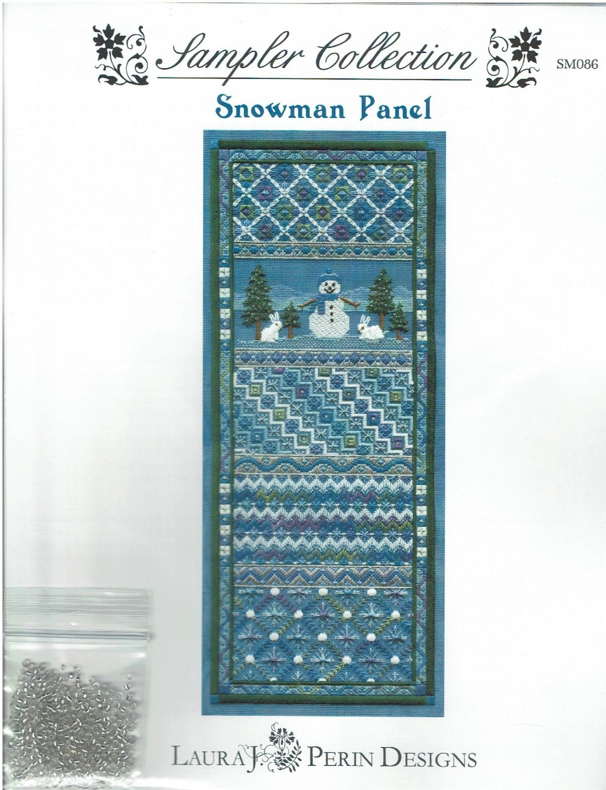 Snowman Panel by Laura J Perin