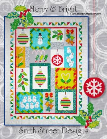 Merry & Bright by The Whole Country Caboodle Machine Embroidery CD