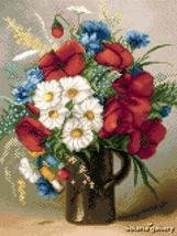 -9- 420 Summer Bouquet of Poppies, Daisies and Cornflowers by Solaria Gallery