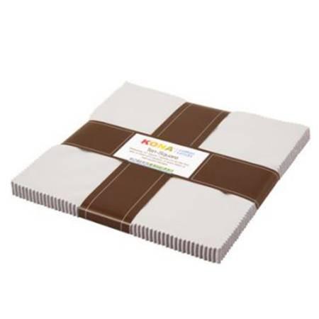 Kona Solids Ash 10 squares