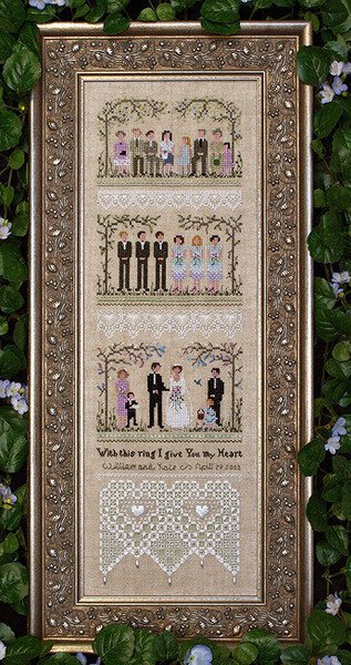 -5- 218 Garden Wedding Sampler by Victoria Sampler