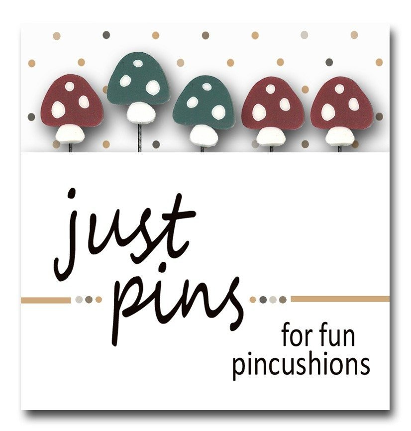 Just Pins- WOODSY (toadstools) by Just Another Button Company