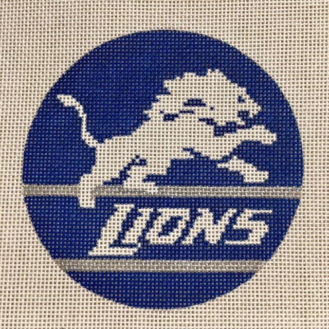 1007 Detroit Lions Logo, 4 Round