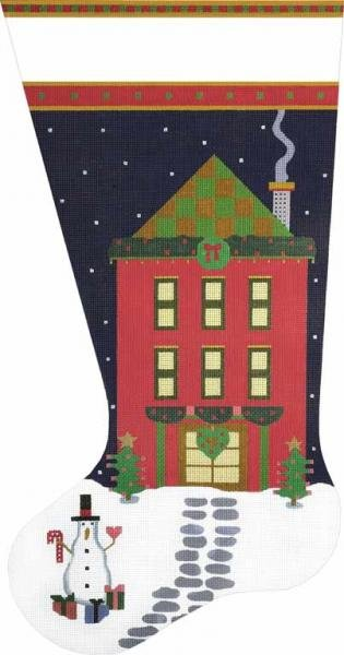 1934B Red House Stocking
