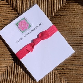 To Do After Needlepoint Mini Notepad