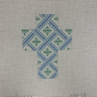 630-CR Blue/Green Print Cross