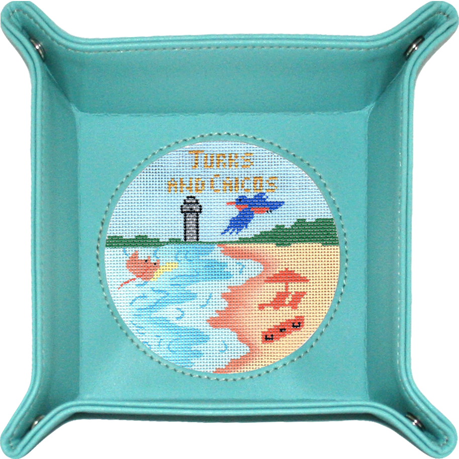 4 Round Snap Tray-Teal BAG75T