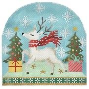 BB6187 Reindeer with Scarf Snowdome
