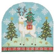 BB6189 Reindeer with Tree Snowdome