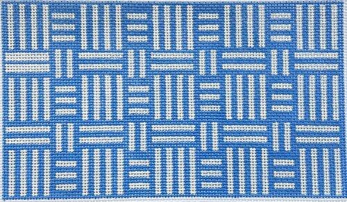 HT58 Blue & White Geometric Clutch