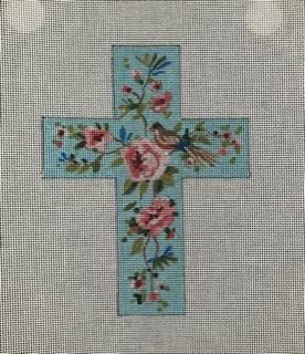 IF271 Floral w/ bird Cross