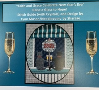 Faith & Grace Celebrate New Year's-FG11w/ Stitch Guide & Crystals
