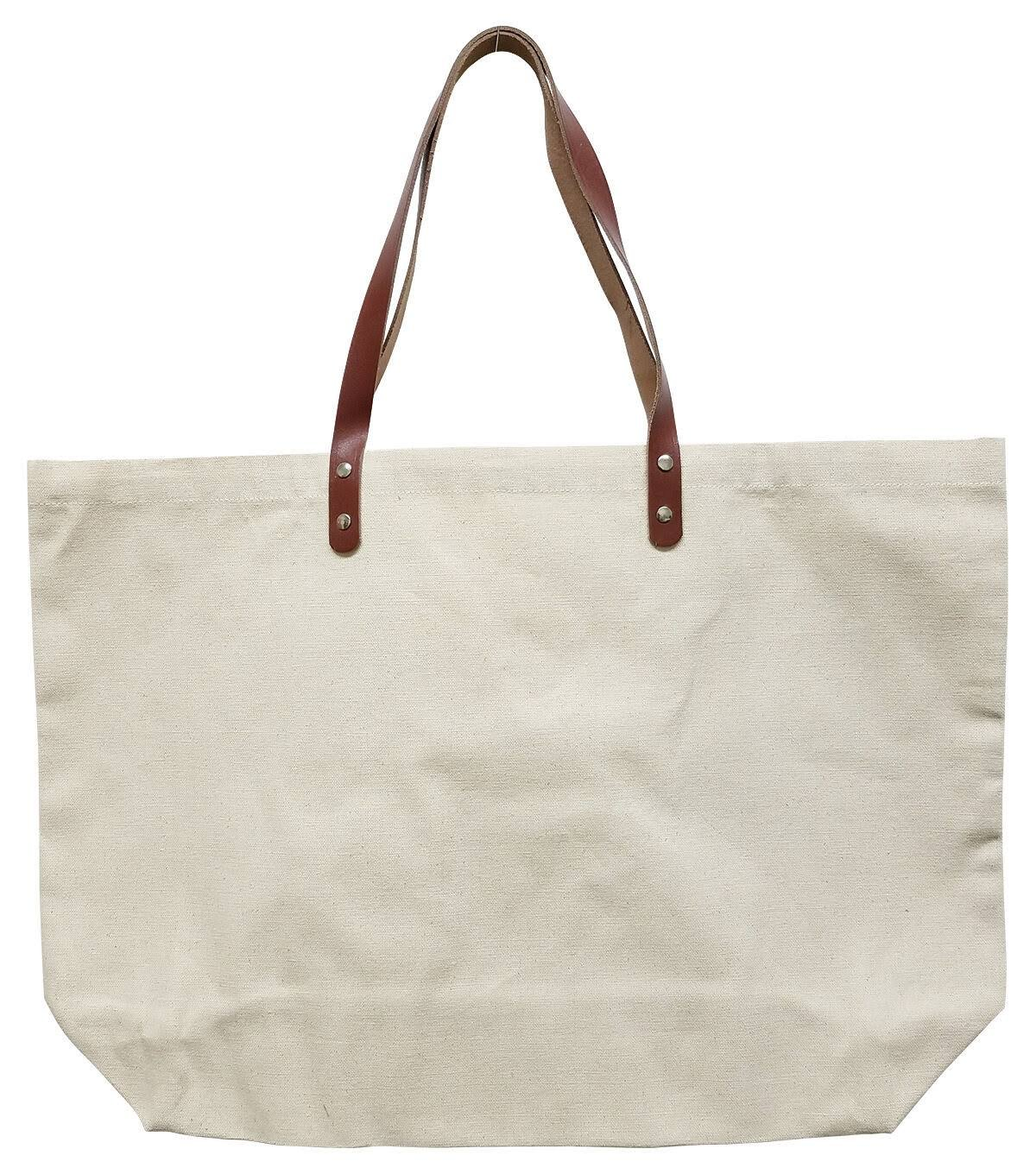 Canvas Bag bw/ Leather Strap