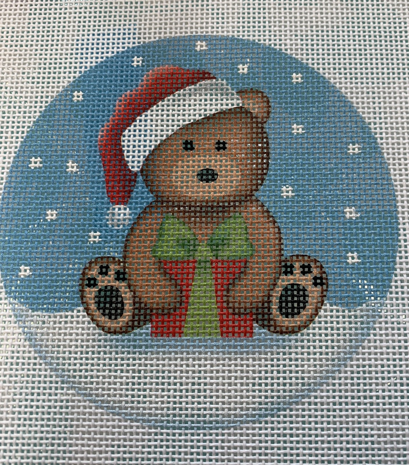 BB13 Brown Santa Bear with Present