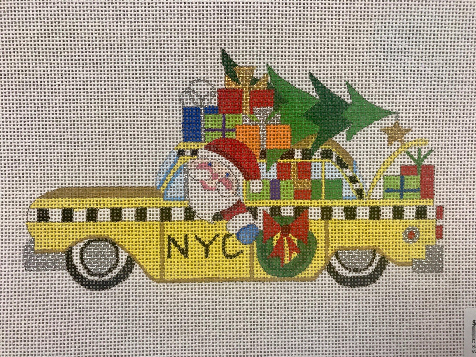 Santa Taxi Cab HO385