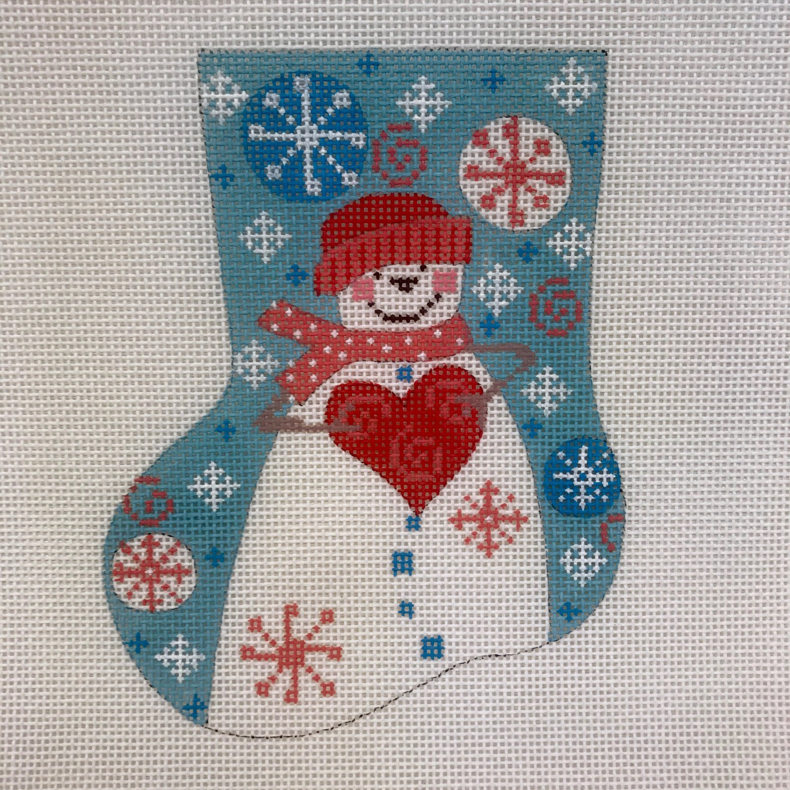 CH-161 Snowman with Heart Mini-Sock