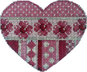 HE-851 Dots/Hearts Flowers Heart