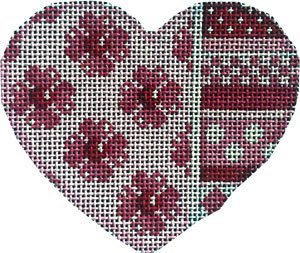 HE-852 Heart Flowers/Horizontal Pattern