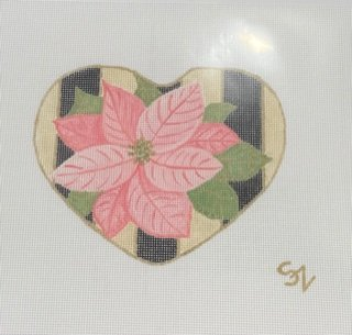 Pink Poinsettia with Black Stripes