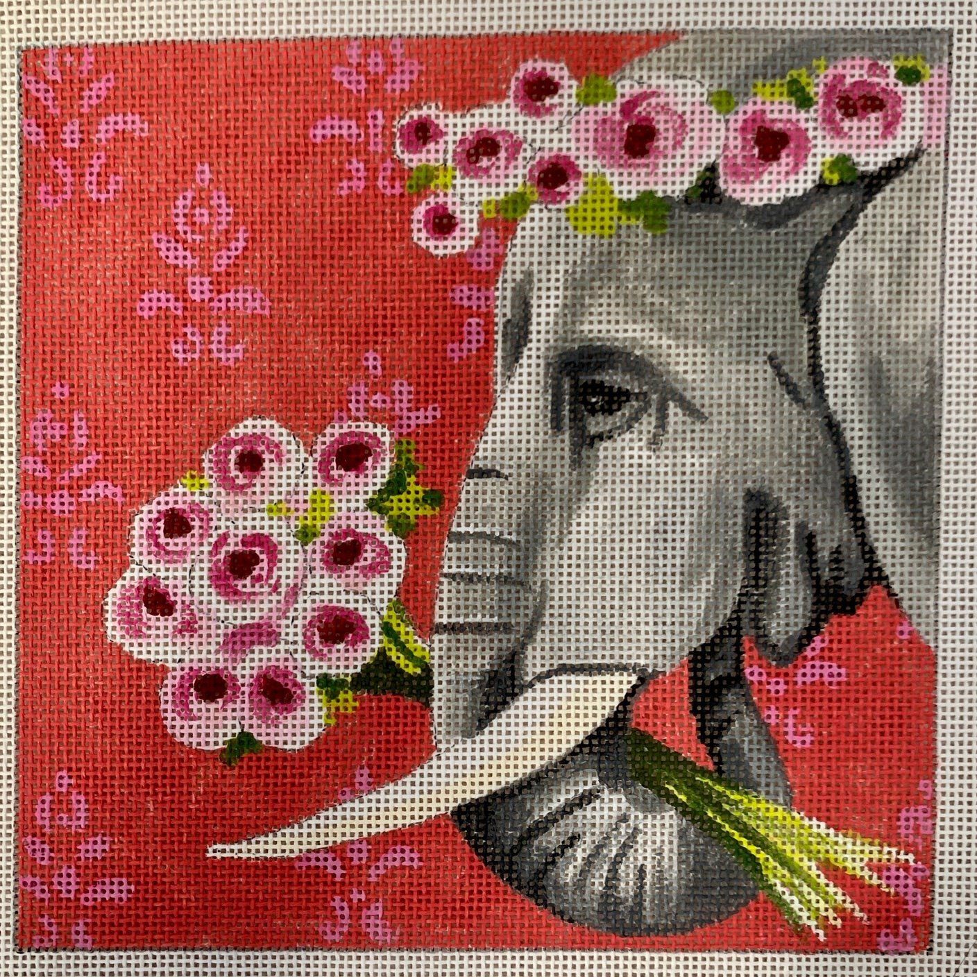 IN264 Elephant with Roses