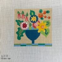 Sylized Floral Square 631A