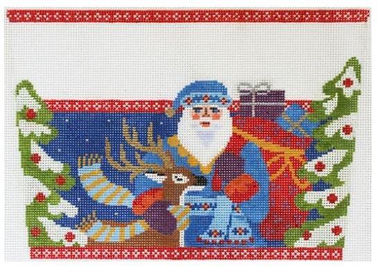 Jacobean Santa w/Deer Cuff AC 095