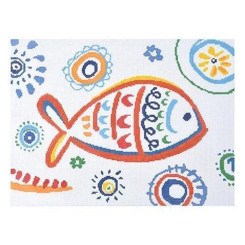Tropical Fish Red Swirls KB1400