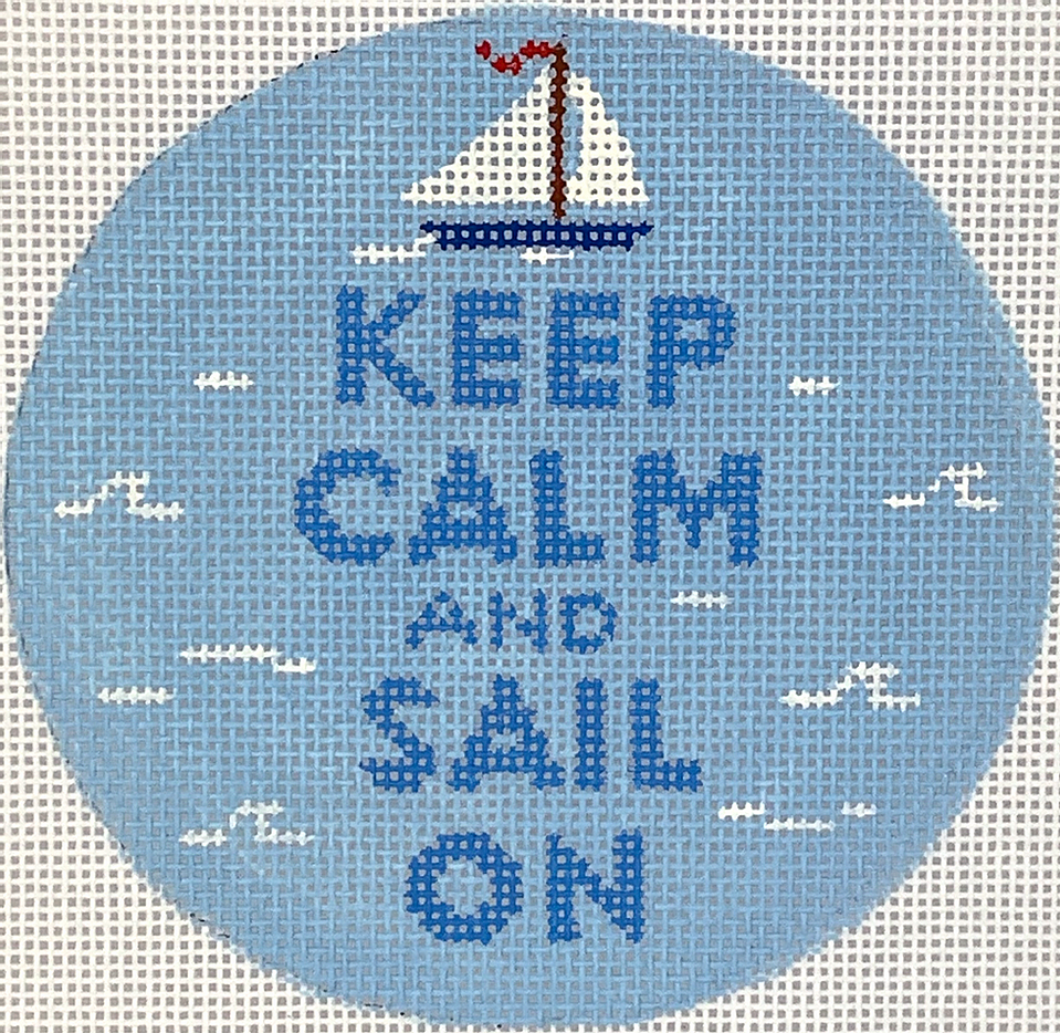 Planet Earth 4 Round Insert-Keep Calm & Sail On INSMC-63