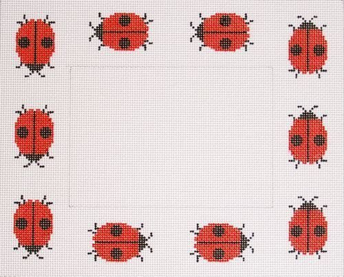Ladybugs Frame--All Red 465a