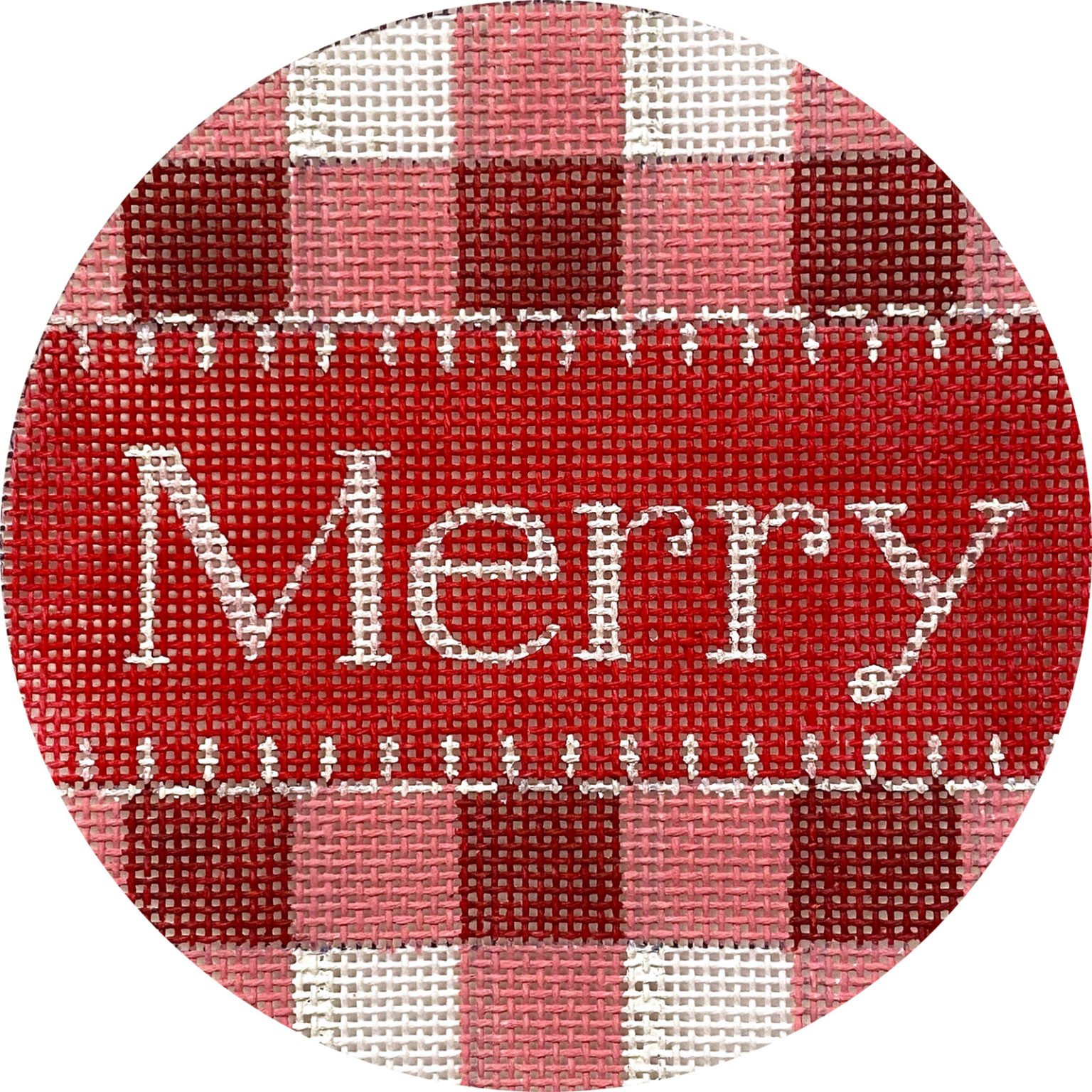 Merry--Red Gingham X436