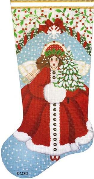 2055 Snowy Red Angel Sock