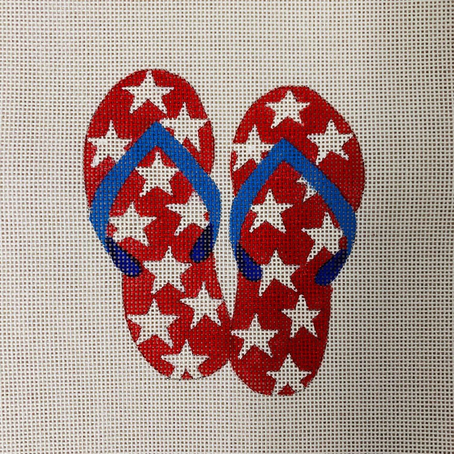 OM-224 Fourth of July Flip Flops