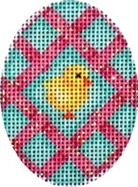 Pink Lattice/Chick Mini Egg EG-470