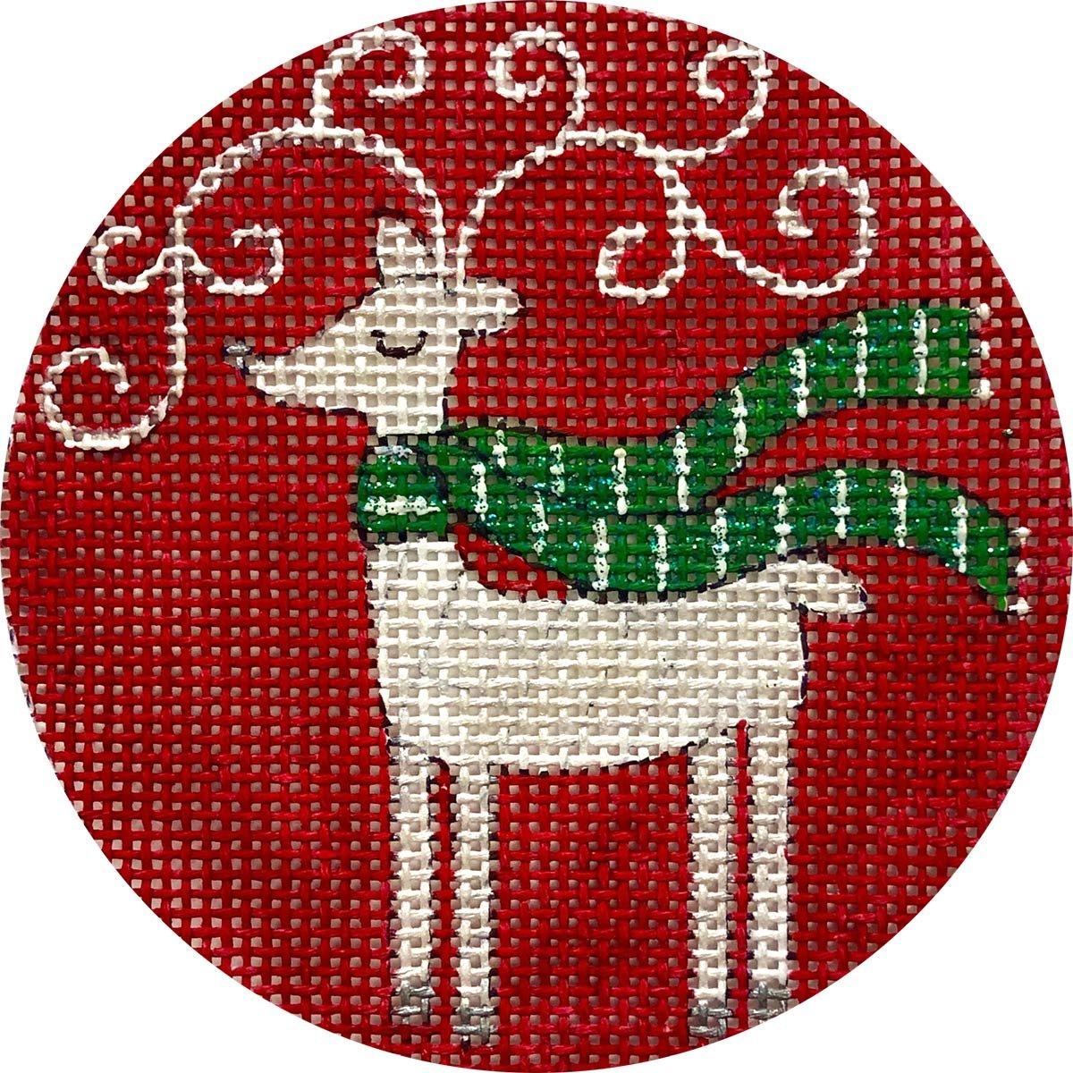 Reindeer on Red X375