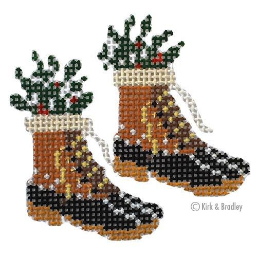 Retro Ski--Fur Bean Boots KB 1502