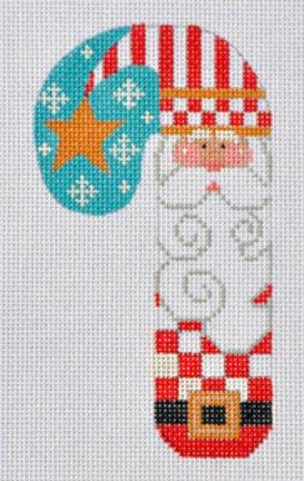 CH79 Santa w/ Star Candy Cane