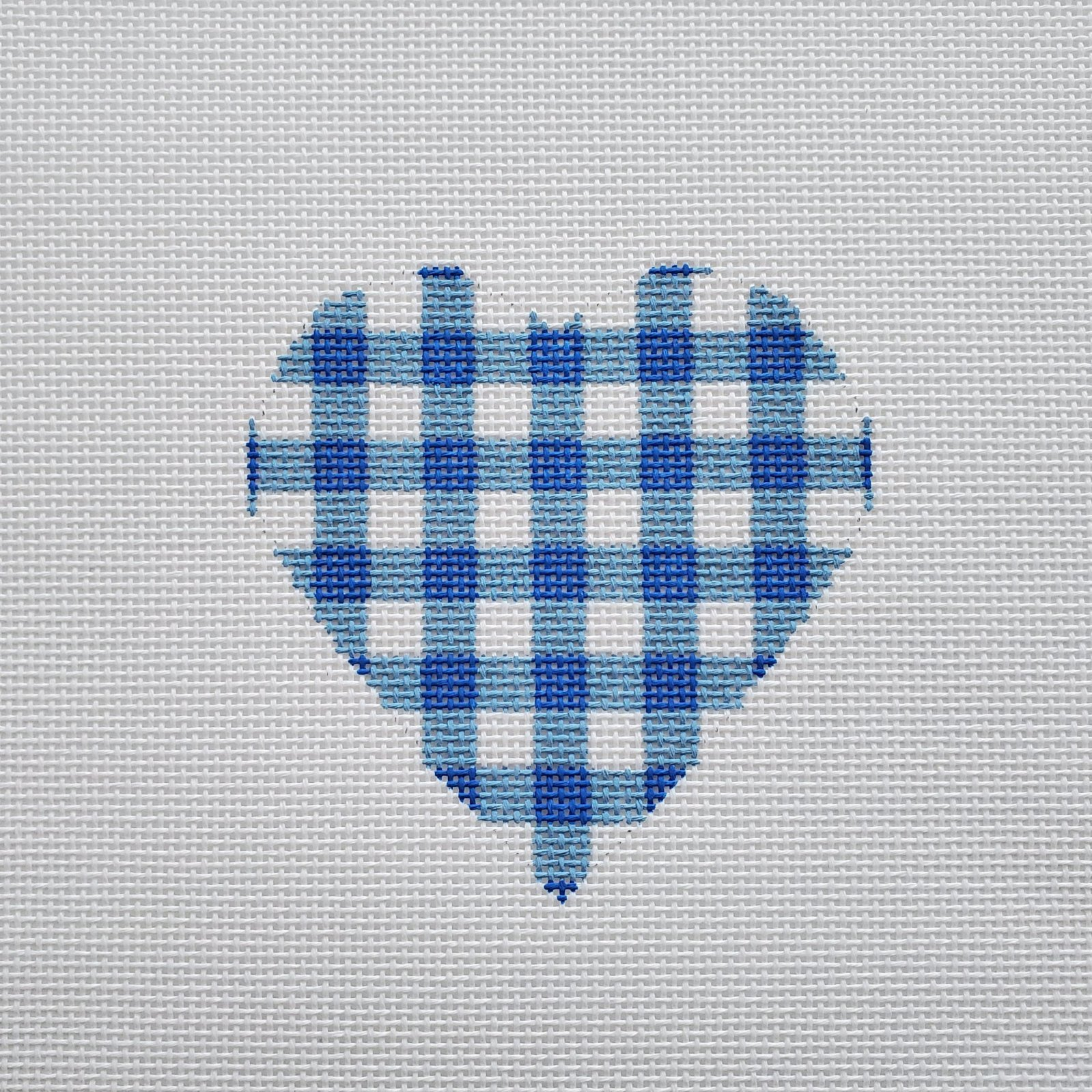 Small Blue Gingham Hearts