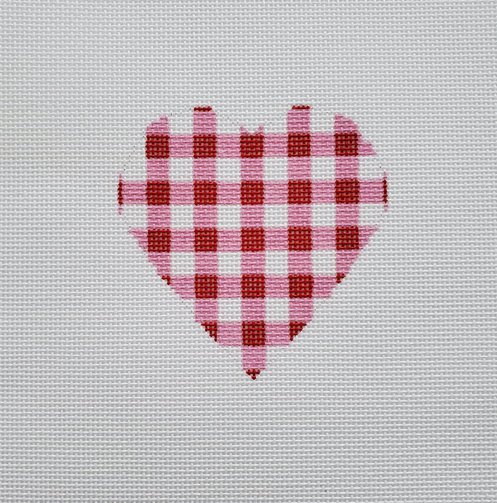 Small Red Gingham Hearts