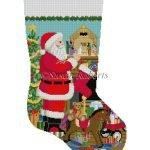 Santa Nativity Stocking #18 0192