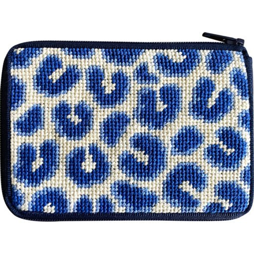 Navy Leopard SZ239 - CC/Coin Purse