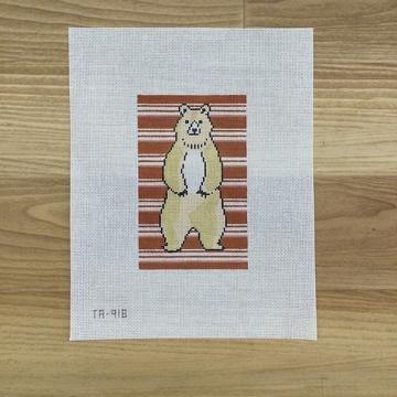 TA918 Bear on Stripes