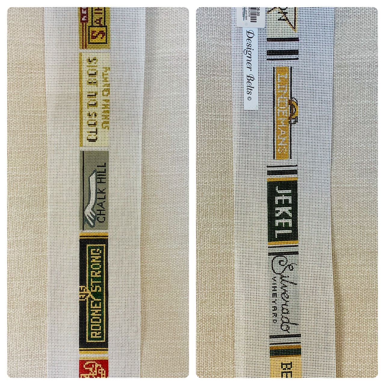 Wine Label Belt