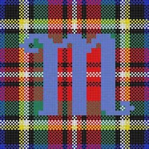 Plaid Alphabet M TD/X-084M