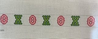 X's and O's Belt Pink & Green 328a