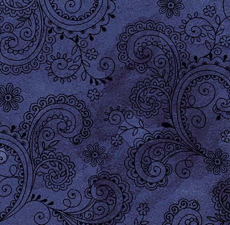 Avalon Decorative Filigree Midnight 108in