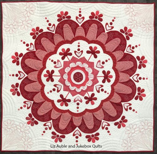 Flower Power Quilt by Liz Auble, quilted by Kelly Gallagher-Abbott