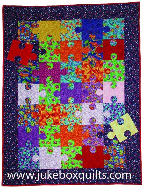 Jig Swatches Puzzle Quilt by Kelly Gallagher-Abbott