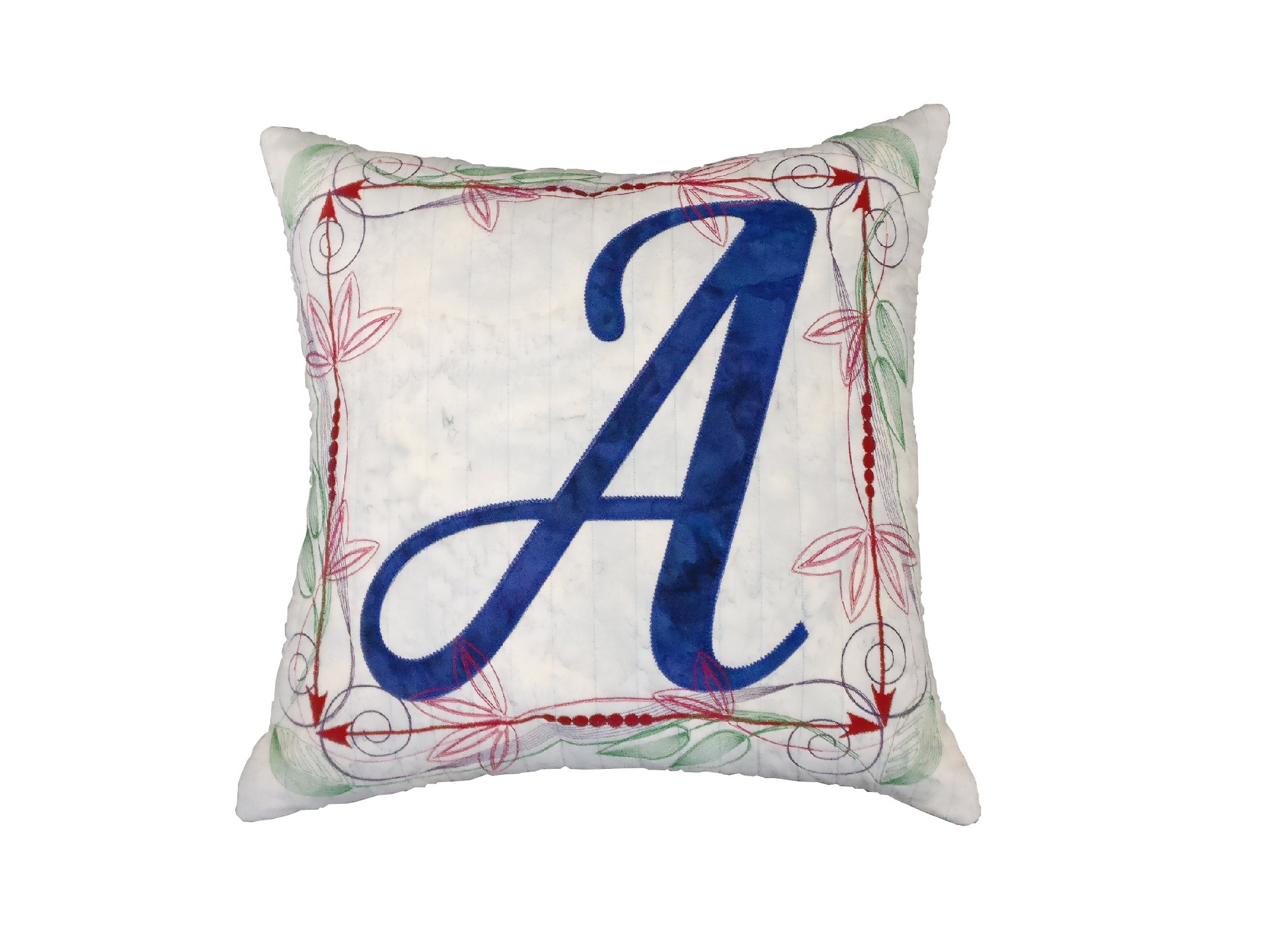 JBKGA Monogram Pillow Quilting and Embroidery Patterns