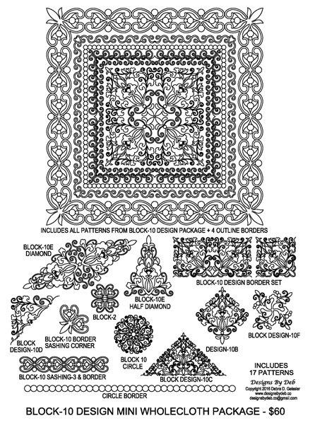 JBDG Block design 10 WholeclothMiniQuilt package