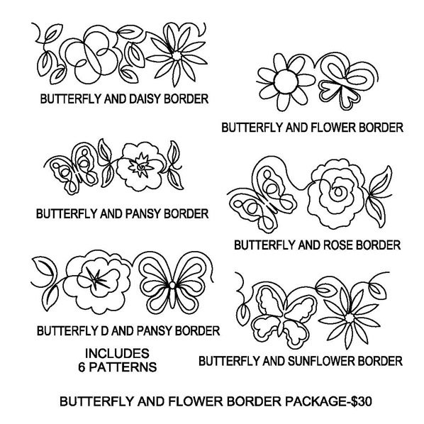JBDG Butterfly and flower border package